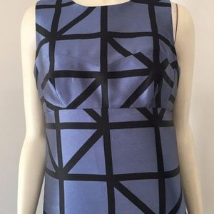 Milly Dresses - Milly Blue black graphic dress Size 4 NWT